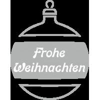 Weihnachtsdekorationsaufkleber Frohes Weihnachten (Silber Weihnachtskugeln)