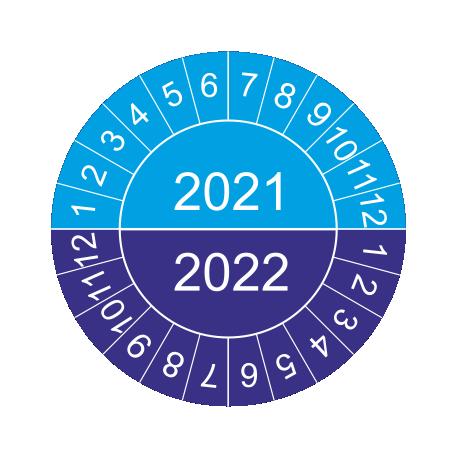 Mehrjahres-Prüfplaketten (blau)
