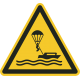 "Aufkleber ""Warnung vor Parasailing"""