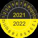 Mehrjahres-Prüfplaketten (gelb-schwarz)