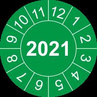 Prüfplaketten mit Jahreszahl (grün)