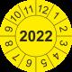 Prüfplaketten mit Jahreszahl (gelb)
