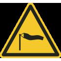 """Aufkleber """"Warnung vor starkem Wind"""""""