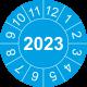 Prüfplaketten mit Jahreszahl (blau)