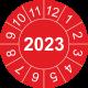 Prüfplaketten mit Jahreszahl (rot)