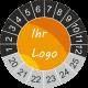 Prüfplaketten mit eigenem Logo (Anthrazit)