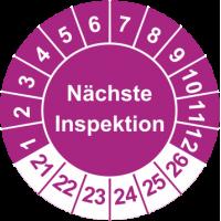 Prüfplaketten 'Nächste Inspektion'