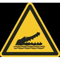 """Aufkleber """"Achtung Krokodile"""""""