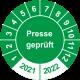 Prüfplaketten 'Presse geprüft'