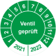 Prüfplaketten 'Ventil geprüft'