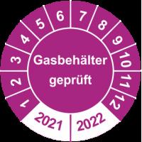Prüfplaketten 'Gasbehälter geprüft'