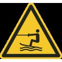 """Schilder """"Warnung vor Wasserski-Bereich"""""""