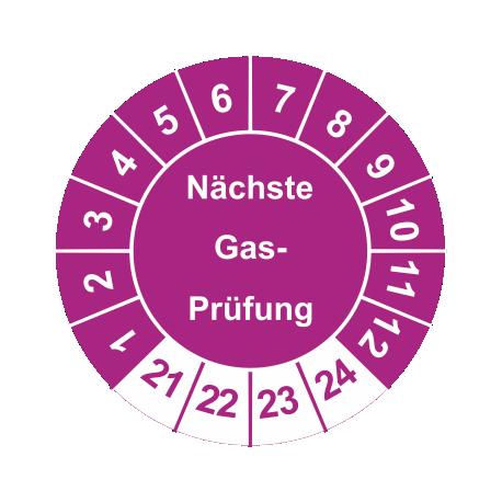 Prüfplaketten 'Nächste Gas-Prüfung'
