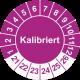 Prüfplaketten 'Kalibriert'