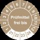Prüfplaketten 'Prüfmittel frei bis'