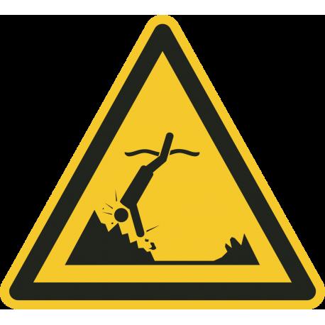 """Schilder """"Warnung vor Gegenständen unter Wasser"""""""