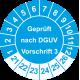 Prüfplaketten 'Geprüft nach DGUV Vorschrift 3'
