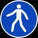 """Aufkleber """"Für Fußgänger"""""""