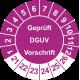 Prüfplaketten 'Geprüft DGUV Vorschrift'