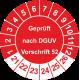 Prüfplaketten 'Geprüft nach DGUV Vorschrift 52'
