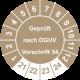 Prüfplaketten 'Geprüft nach DGUV Vorschrift 54'