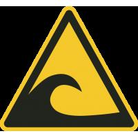 """Schilder """"Achtung Tsunami-Gebiet"""""""