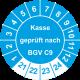 Prüfplaketten 'Kasse geprüft nach BGV C9'
