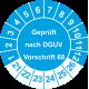 Prüfplaketten 'Geprüft nach DGUV Vorschrift 68'