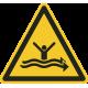 """Schilder """"Warnung vor starker Strömung"""""""