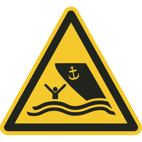 """Schilder """"Warnung vor Schiffsverkehr"""""""
