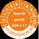 Prüfplaketten 'Geprüft gemäß ASR A 1.7'