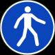 """Aufkleber """"Fußgängerweg benutzen"""""""