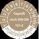Prüfplaketten 'Geprüft nach DIN EN 131-2'