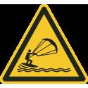 """Schilder """"Warnung vor Kitesurfern"""""""