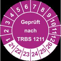 Prüfplaketten 'Geprüft nach TRBS 1211'
