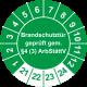 Prüfplaketten 'Brandschutztür geprüft gem. §4 (3) ArbStättV'