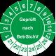 Prüfplaketten 'Geprüft nach BetrSichV'