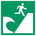 """Schilder """"Tsunami-Evakuierungsgebiet"""""""