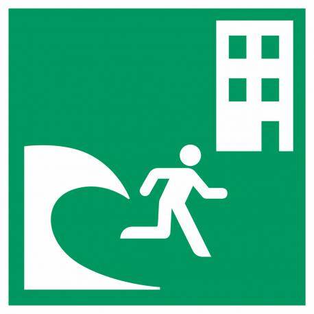 """Schilder """"Tsunami-Evakuierungsgebäude"""""""