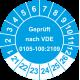 Prüfplaketten 'Geprüft nach VDE 0105-100:2009'