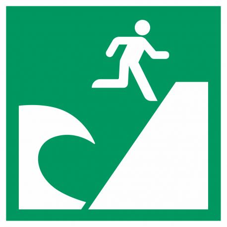 """Aufkleber """"Tsunami-Evakuierungsgebiet"""""""