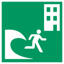 """Aufkleber """"Tsunami-Evakuierungsgebäude"""""""