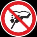 """Schilder """"Geräte-Tauchen verboten"""""""