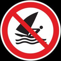 """Schilder """"Windsurfen verboten"""""""