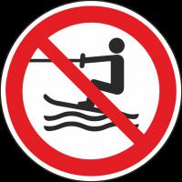 """Schilder """"Wasserski-Aktivitäten verboten"""""""