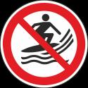 """Schilder """"Surfen verboten"""""""