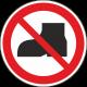 """Schilder """"Tragen von Straßenschuhen verboten"""""""