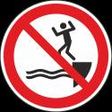 """Schilder """"Ins Wasser springen verboten"""""""