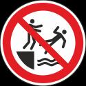 """Schilder """"Ins Wasser stoßen verboten"""""""