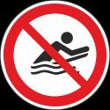 """Schilder """"Bodyboarden verboten"""""""